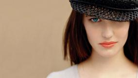 Eva Green In Black Net Cap And Red Lips